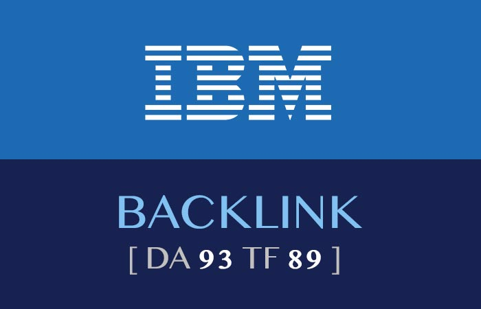 how to get an IBM backlink